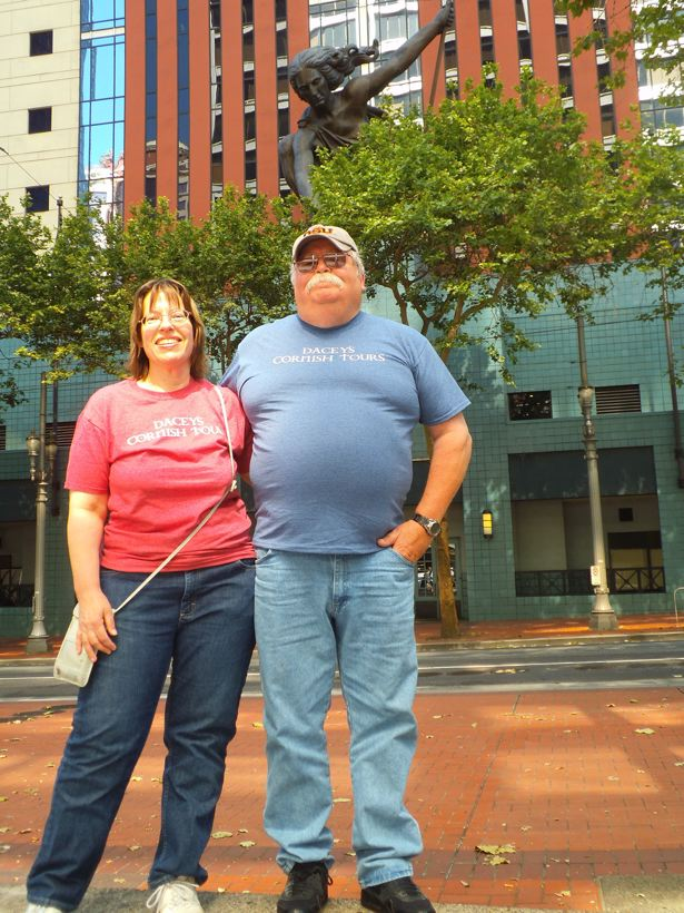 Kate & Duane, Portland Statue Oregon