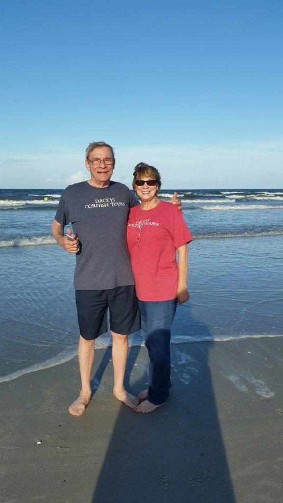 Bob & Sandra Jacksonville beach Florida USA (4050 miles to Cornwall U.K)